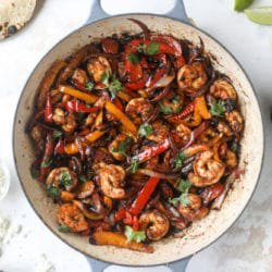 Adobo Shrimp Fajitas